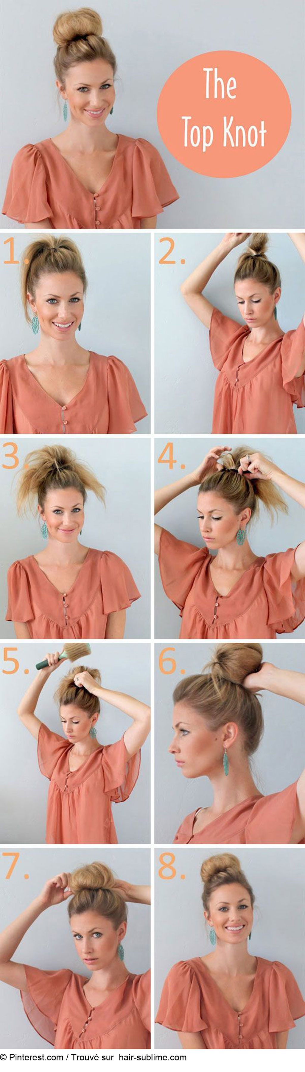 Comment faire un chignon facilement - Faire un chignon ...