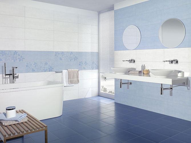Salle de bains et carrelage font bon m nage elle d coration - Carrelage salle de bain couleur ...