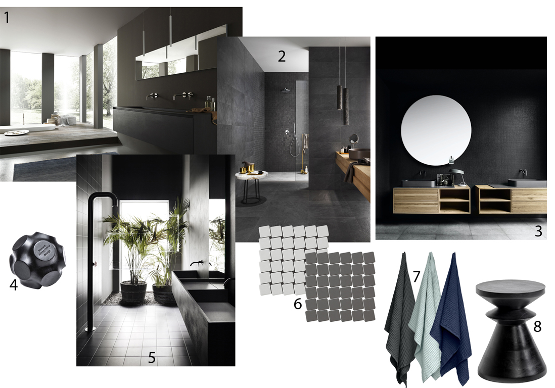 salle de bains all black