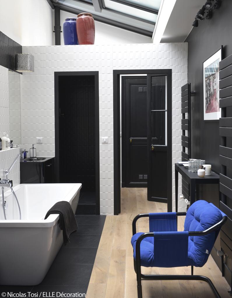 d coration bleue un atelier parisien la d coration bleue elle d coration. Black Bedroom Furniture Sets. Home Design Ideas