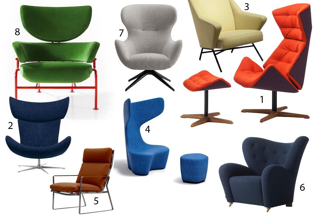 siège coloré tendance