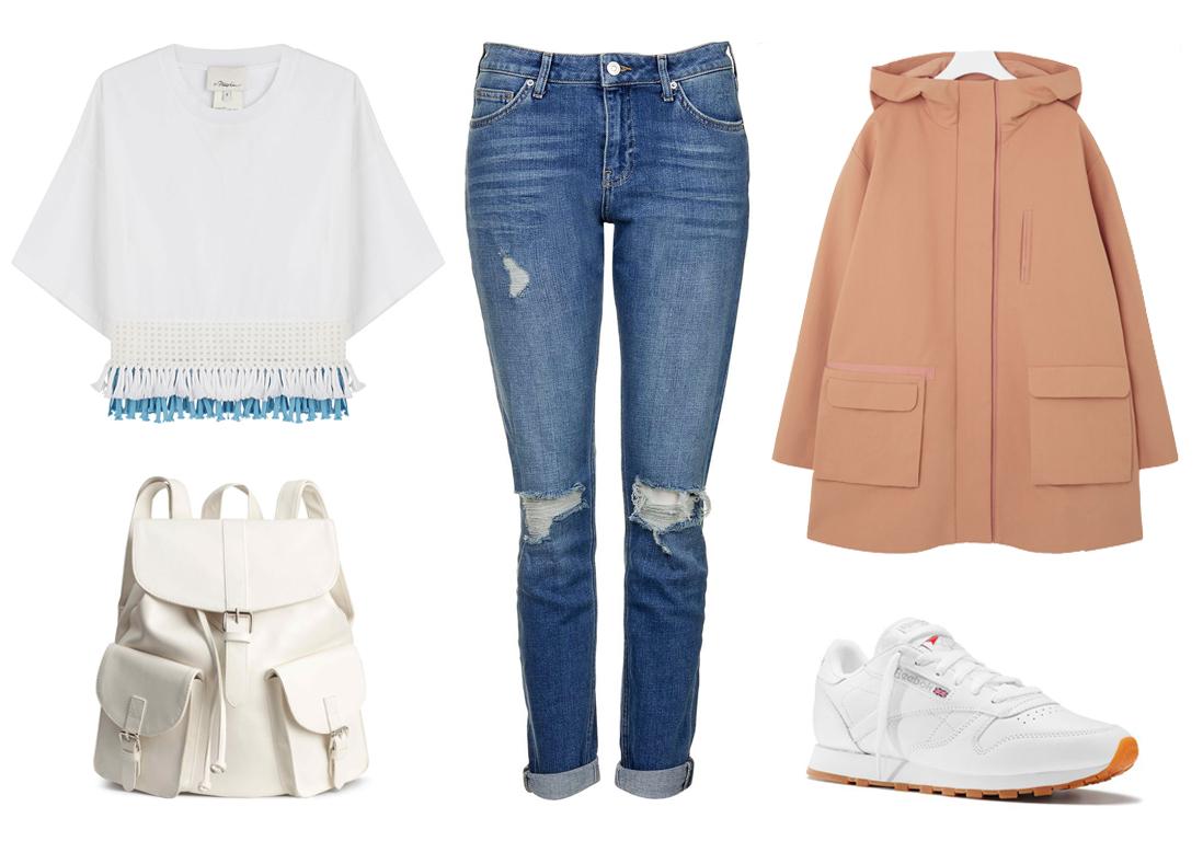 Comment porter le jean trou 3 looks pour tre styl e en jean trou elle - Jean blanc troue ...