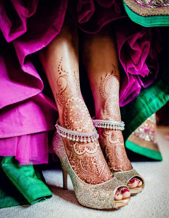 Tatouage henné pieds