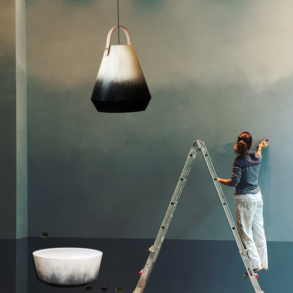 Beautiful tendance deco degrade infusion with peinture - Peinture murale tendance ...