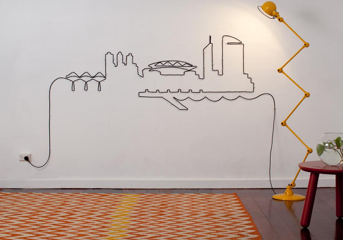 nos meilleures astuces pour cacher des fils lectriques elle d coration. Black Bedroom Furniture Sets. Home Design Ideas