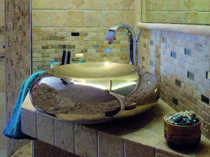 des vasques dans vos salles de bain elle d coration. Black Bedroom Furniture Sets. Home Design Ideas