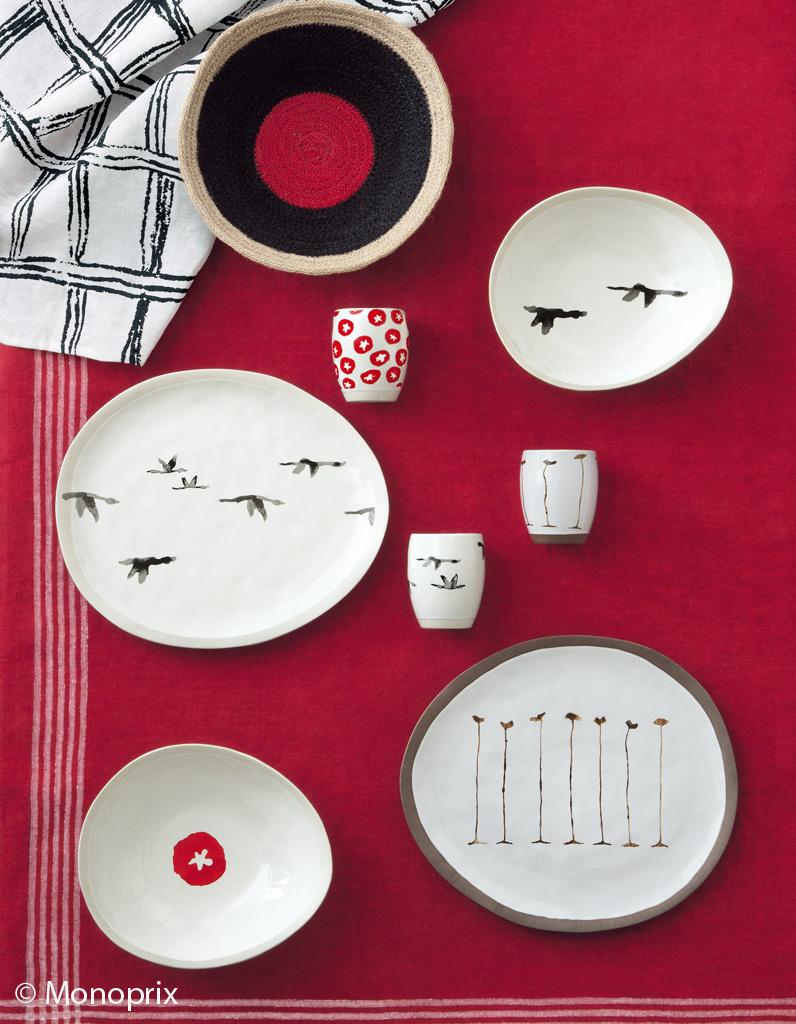 monoprix maison vaisselle. Black Bedroom Furniture Sets. Home Design Ideas