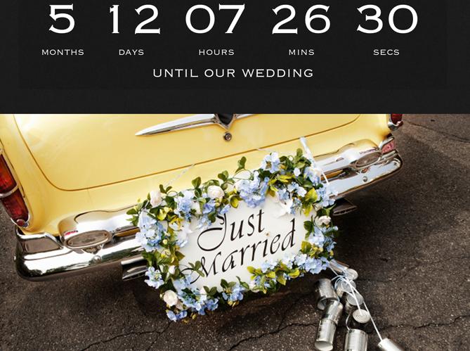 Wedding Countdown pour le decompte image