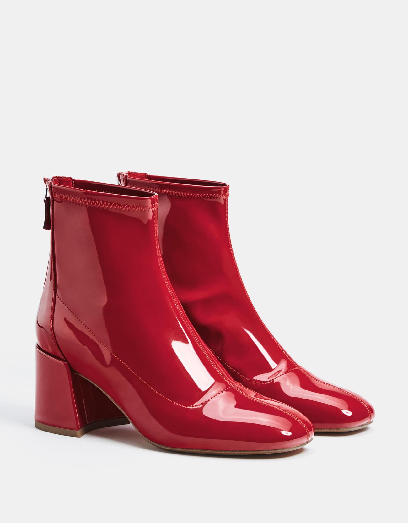 4a3ea3aebda9 Bottes rouges en vinyle Bershka - Bottez en rouge ! - Elle