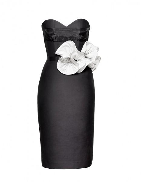 robe bustier noire h&m