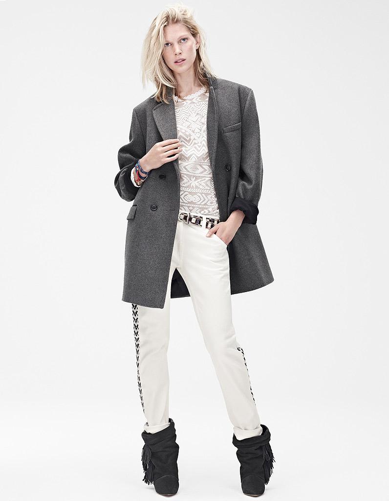Manteau gris h et m