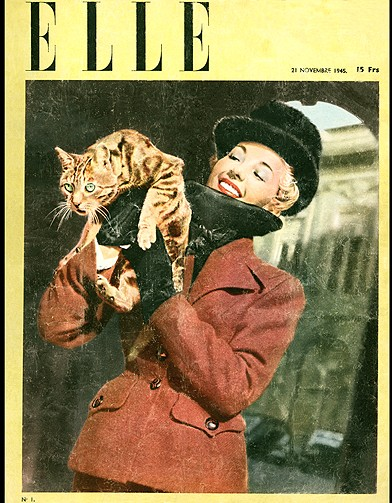 couverture elle magazine 1945 les plus belles couvertures de elle elle. Black Bedroom Furniture Sets. Home Design Ideas