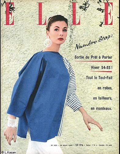 mode tendance livre couverture elle magazine 1954 les plus belles couvertures de elle elle. Black Bedroom Furniture Sets. Home Design Ideas