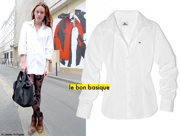 1 la chemise blanche c est la nouvelle petite robe noire jouez avec les n o basiques elle. Black Bedroom Furniture Sets. Home Design Ideas