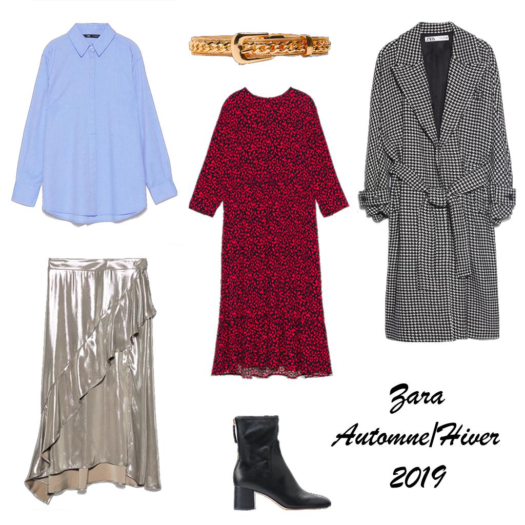 Colection Zara Femme Robe Noire Col Blanc