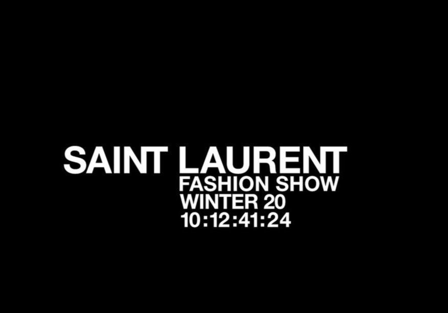 Fashion Week : suivez en direct le défilé Saint Laurent - Elle