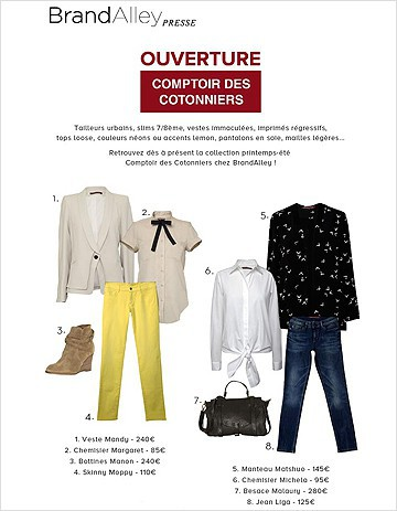 On shoppe Comptoir des Cotonniers sur Brandalley