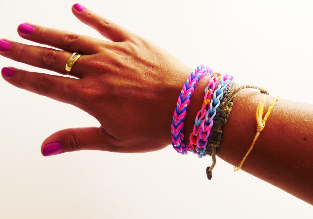 tuto : comment réaliser un bracelet élastique rainbow loom facile