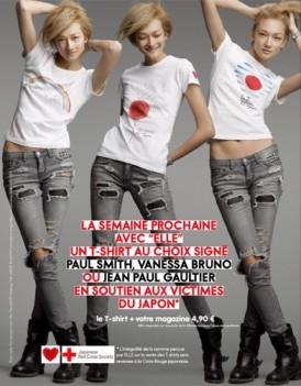 Un T shirt de createur dans ELLE pour soutenir le Japon