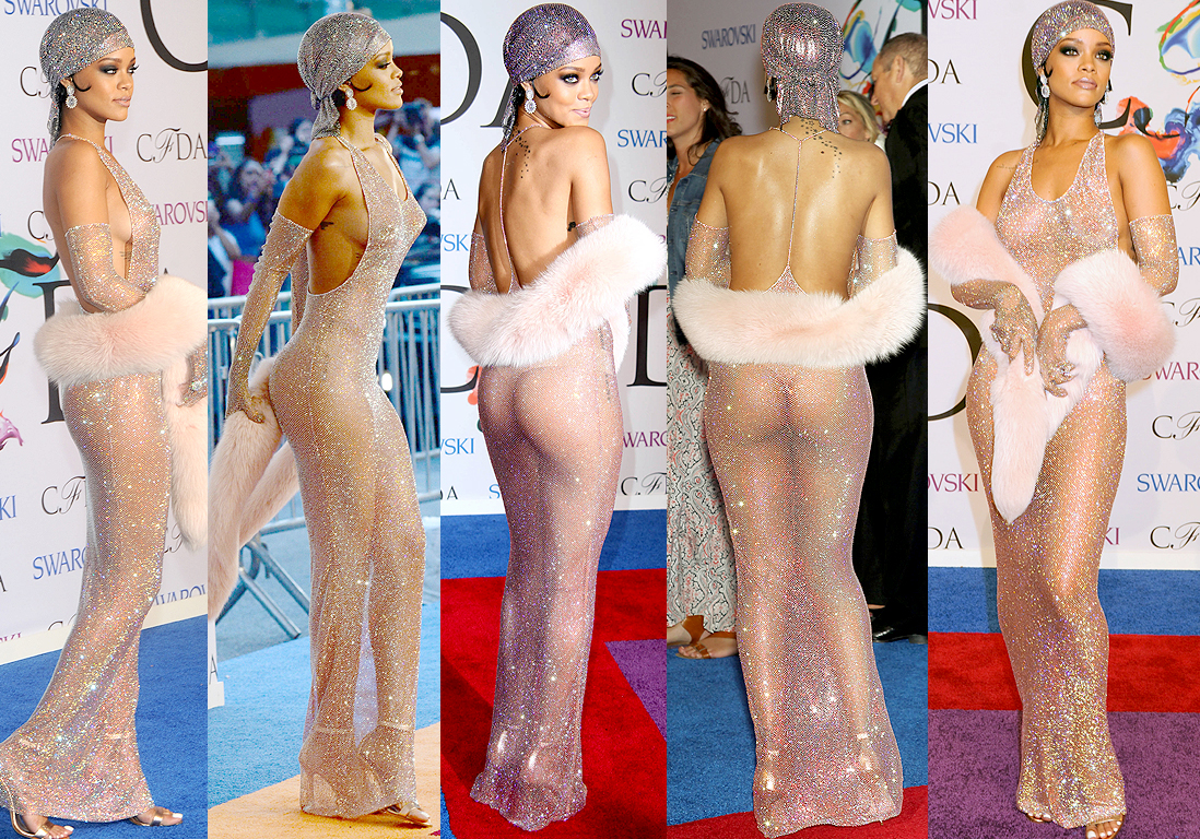 La De Cfda Elle Robe Rihanna Aux Dessous Transparente Les PiuOXZk