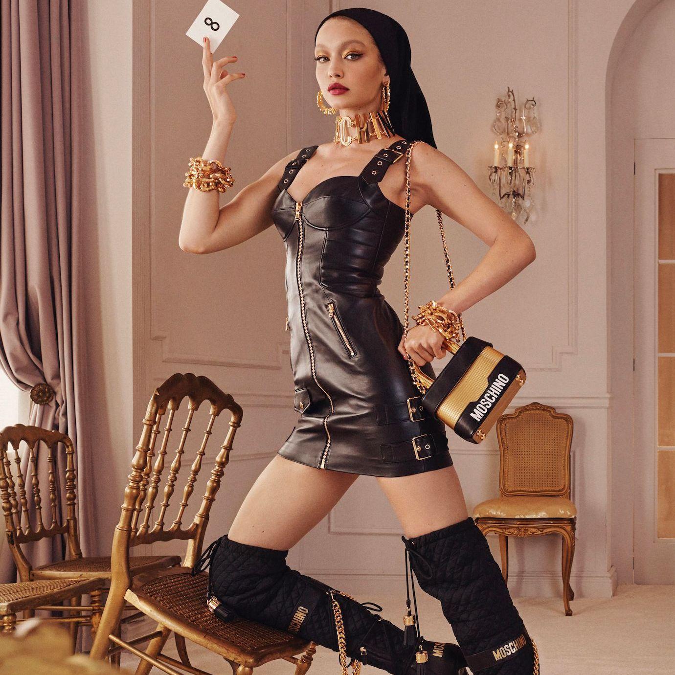 moschino x h m les premi re images de la campagne elle. Black Bedroom Furniture Sets. Home Design Ideas