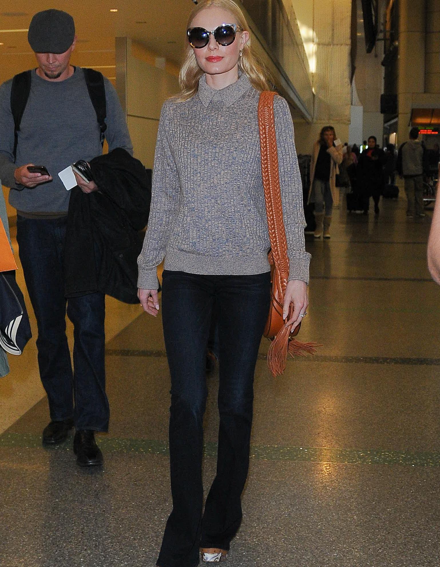 Pourquoi elle est bien ? La tenue de voyage casual de Kate Bosworth
