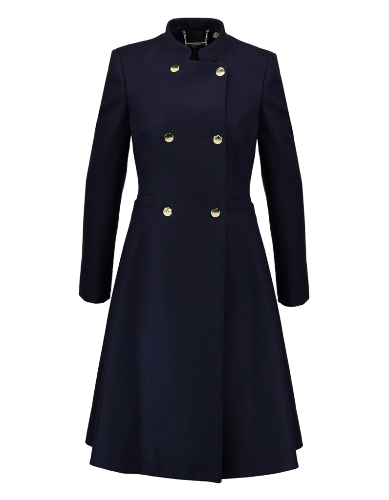 Manteau long femme style officier