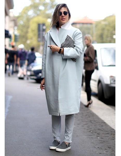 Le Manteau Oversize 1 Street Style Fashion Week Les 14