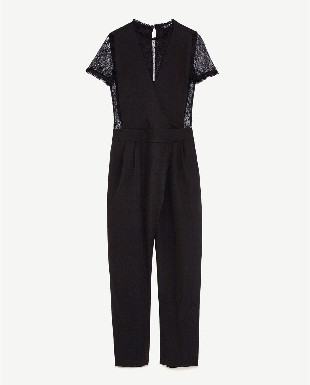 combinaison pantalon en dentelle noire zara chic et. Black Bedroom Furniture Sets. Home Design Ideas