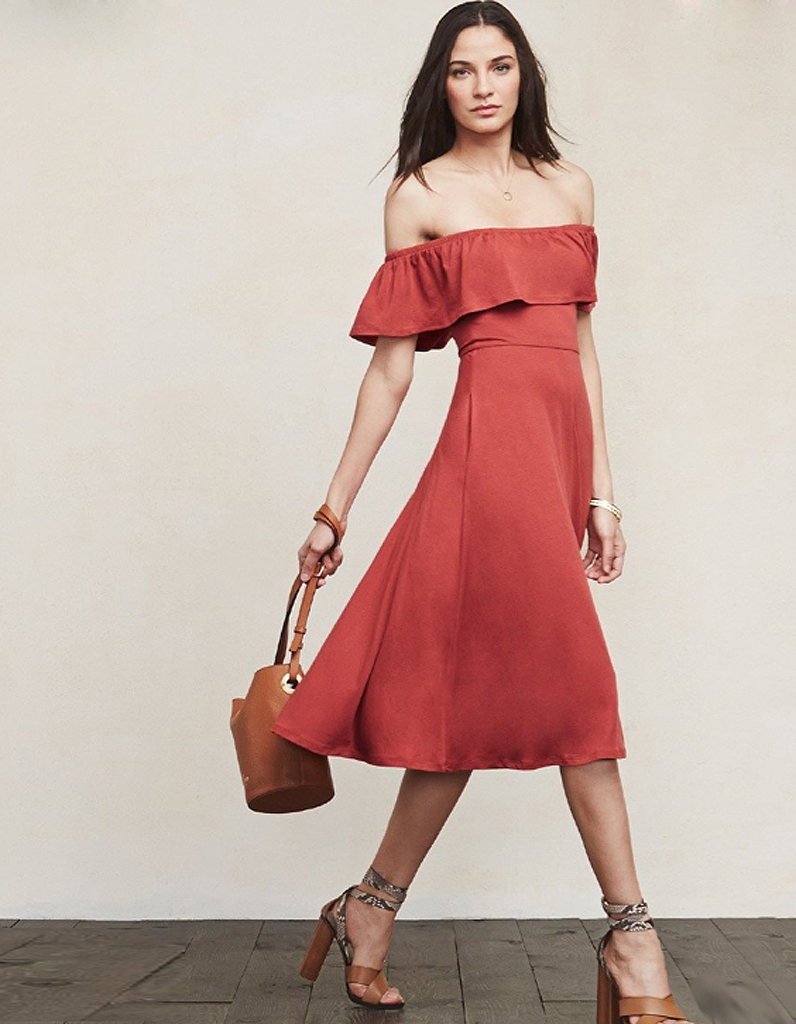 Robe rouge printemps ete 2018