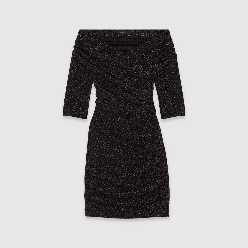 Robe à paillettes Maje - 15 robes à paillettes pour illuminer ses fêtes de fin d'année - Elle