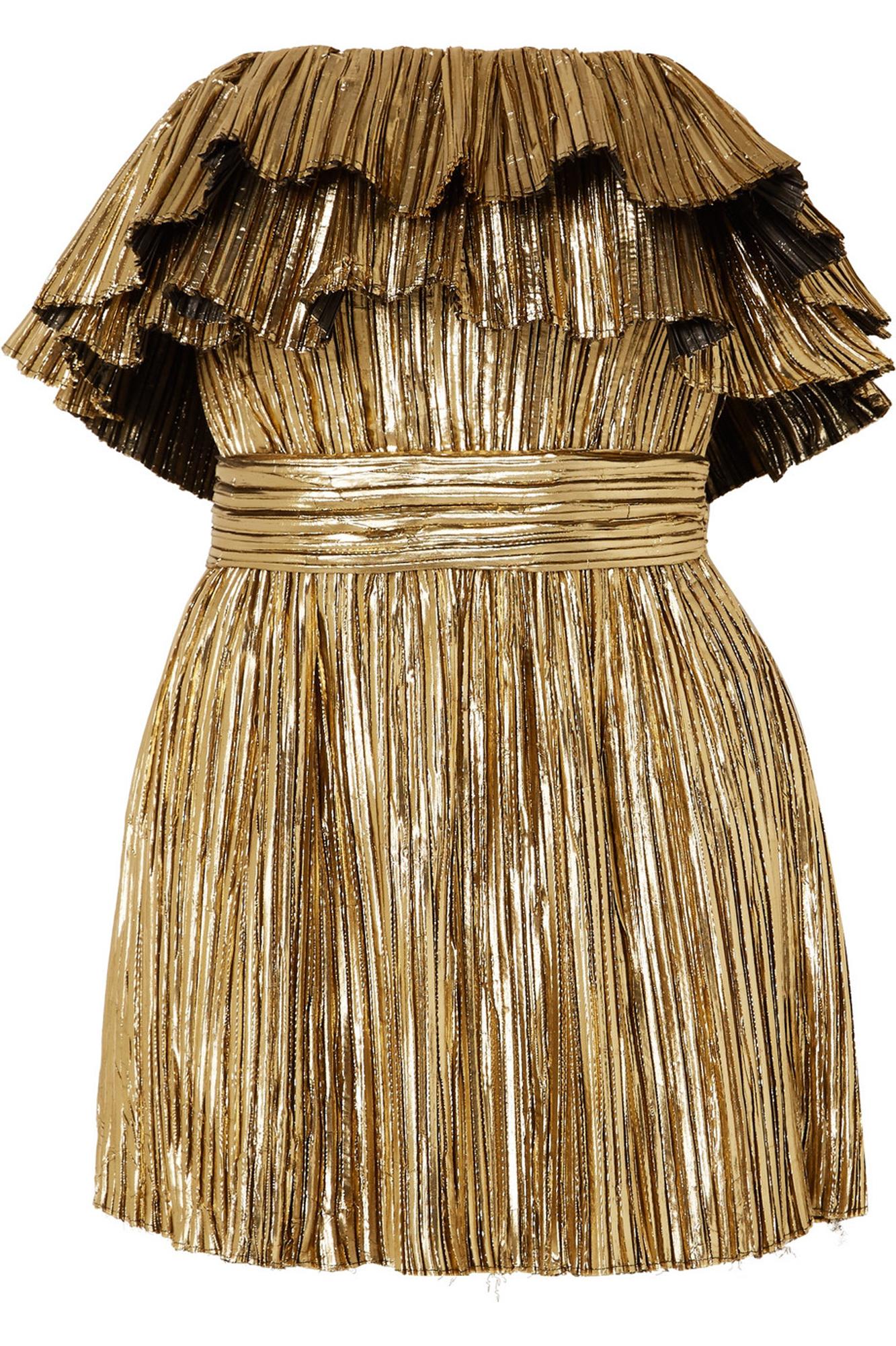 Robe bustier Saint Laurent sur Net à porter - On joue des épaules en robe bustier - Elle