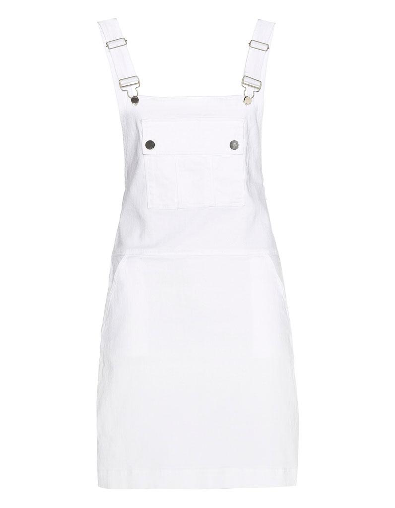a9cab4f4692a56 Robe salopette blanche Frame - 20 robes salopettes pour un look qui ...