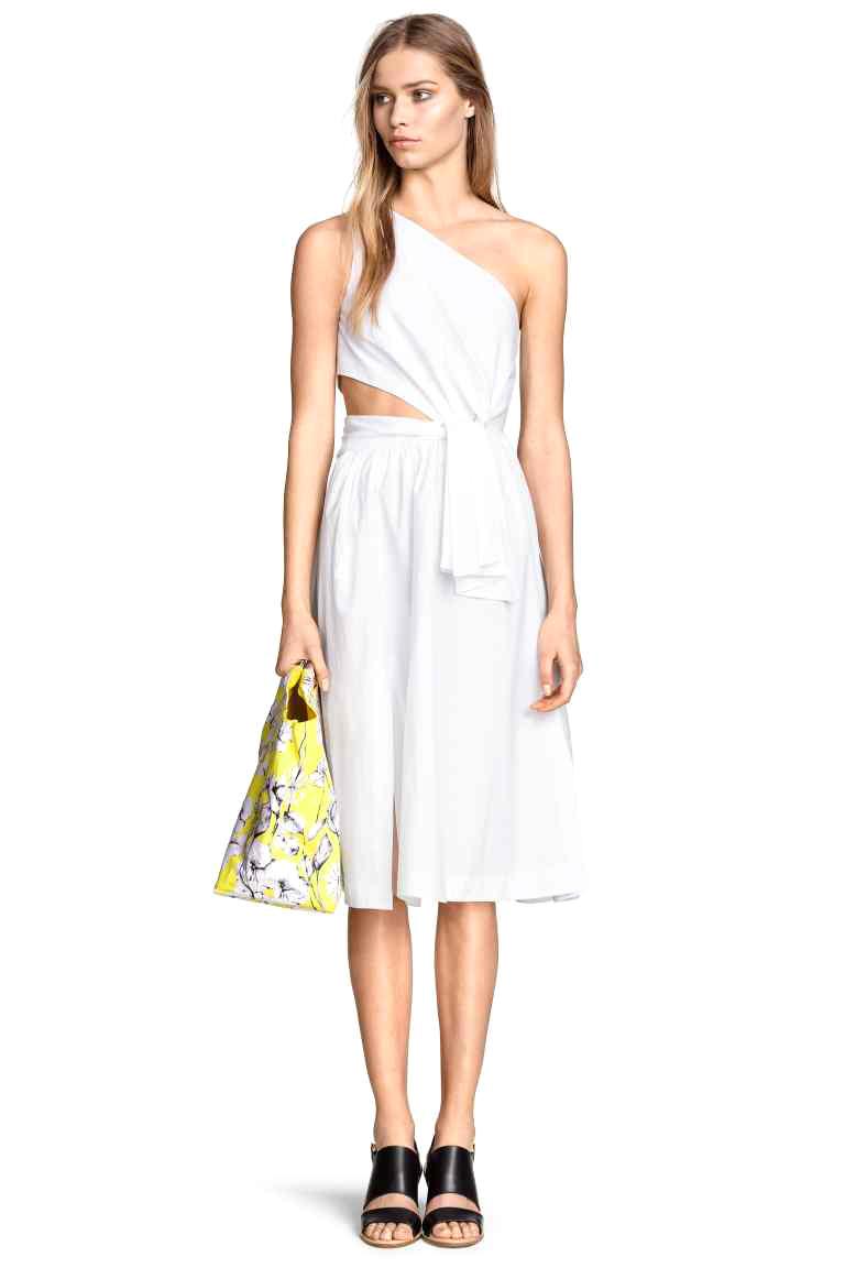 Robe blanche de plage h&m