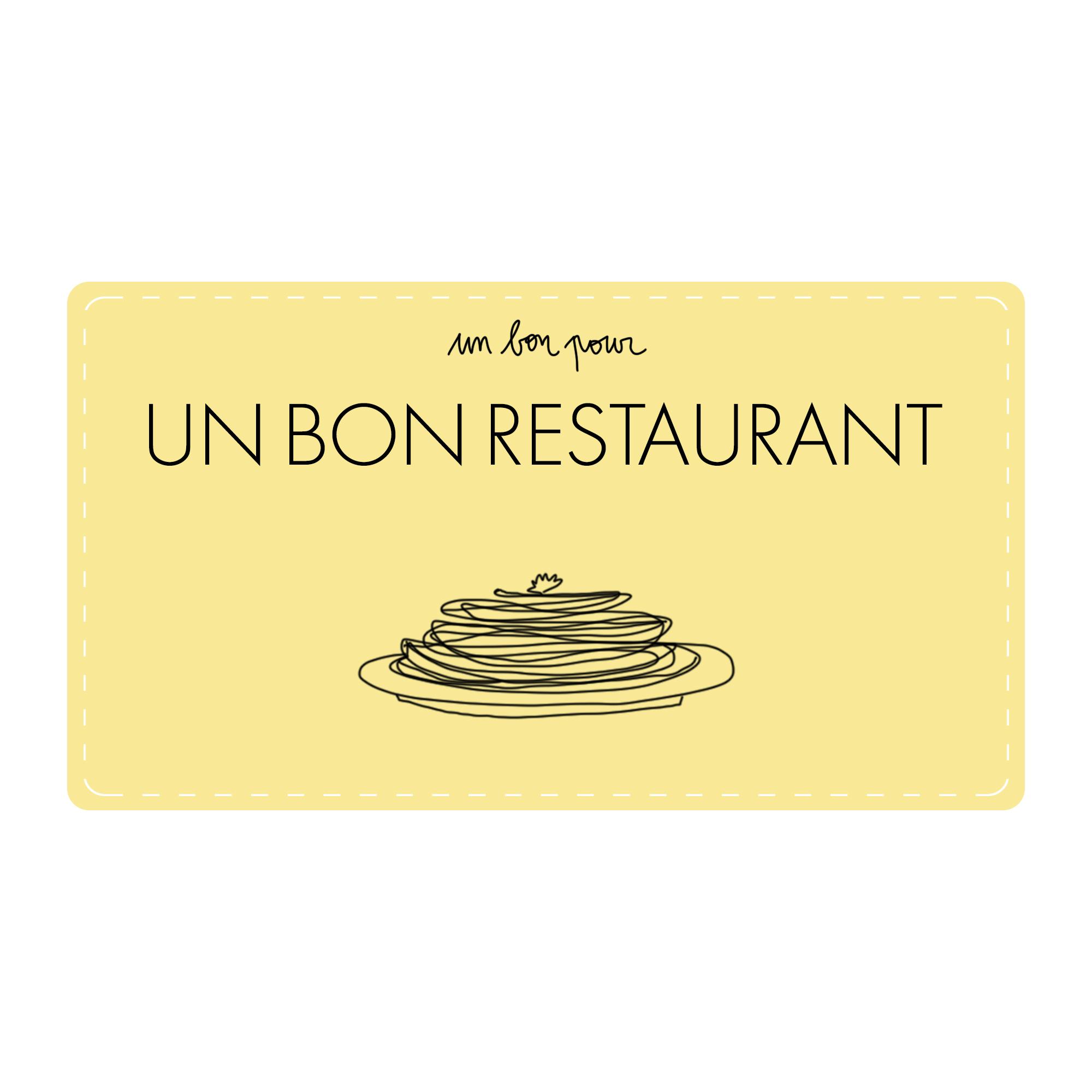 Bon Pour Le Restaurant De Ton Choix