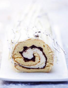 Recette buche vanille chocolat - Herve cuisine buche de noel ...