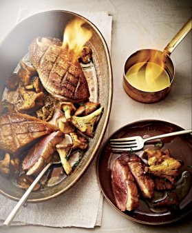 Magrets de canard flamb s pour 4 personnes recettes elle table elle - Magret de canard noel ...
