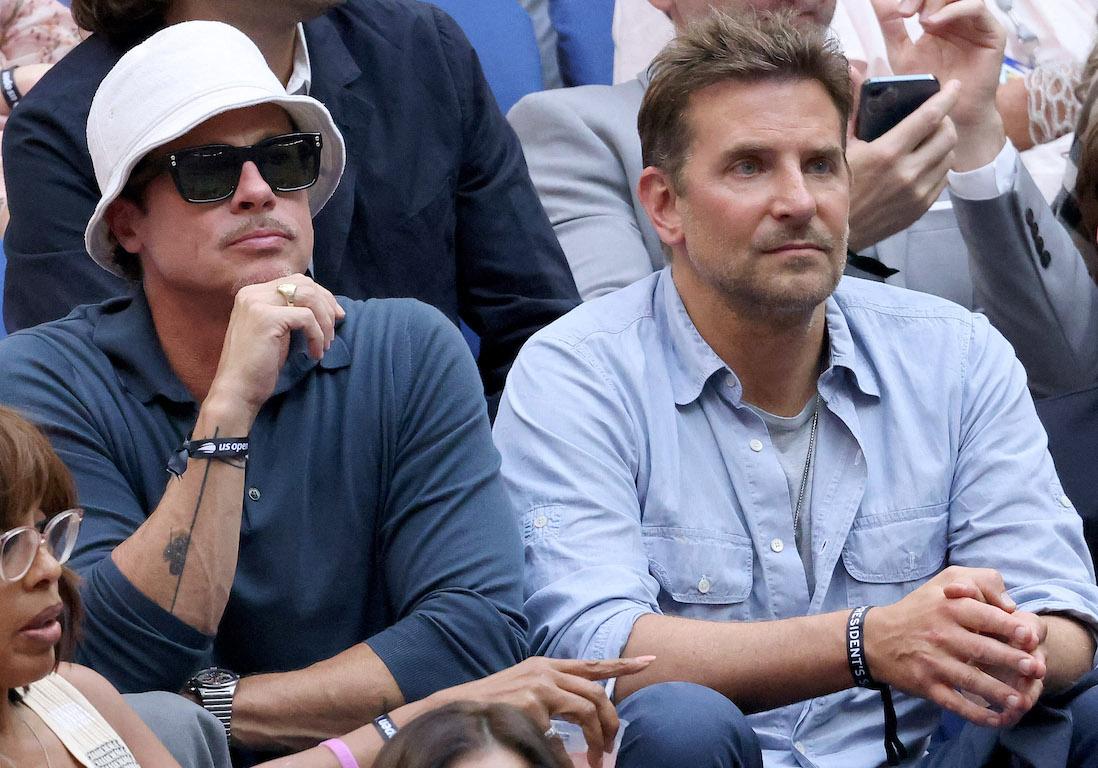 Brad Pitt et Bradley Cooper : les amis réunis pour la finale de l'US Open de tennis - Elle