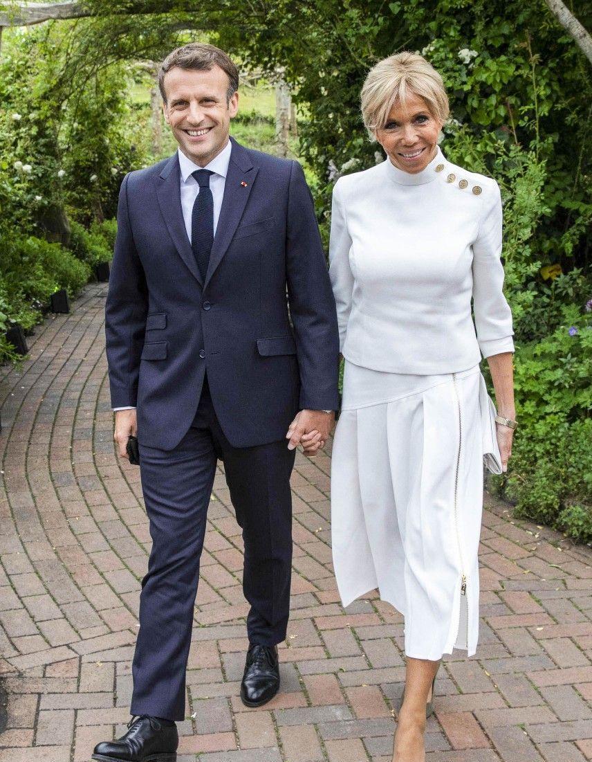 Emmanuel et Brigitte Macron rencontrent Kate Middleton et le prince William au G7 - Elle