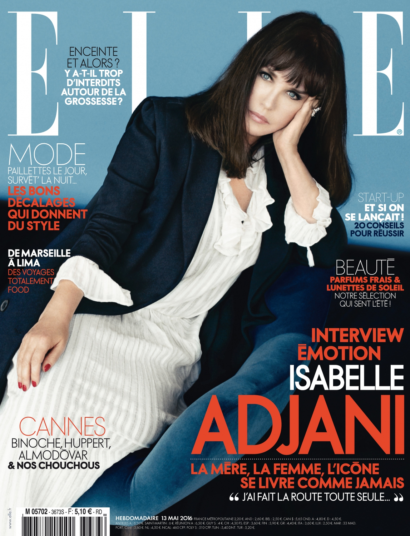 isabelle adjani en couverture de elle cette semaine elle. Black Bedroom Furniture Sets. Home Design Ideas