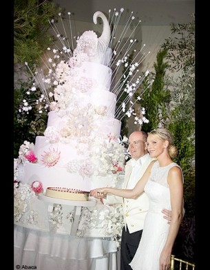 People mariage albert charlene gateau