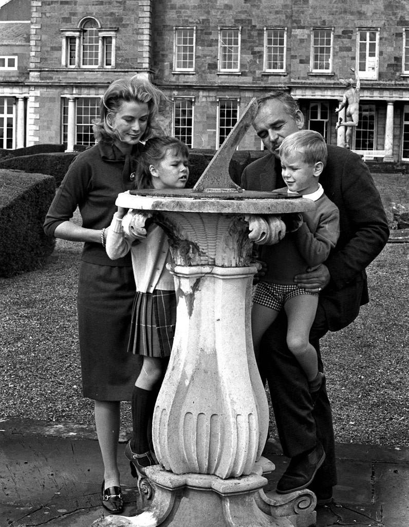 Grace Kelly son mari et deux de ses enfants