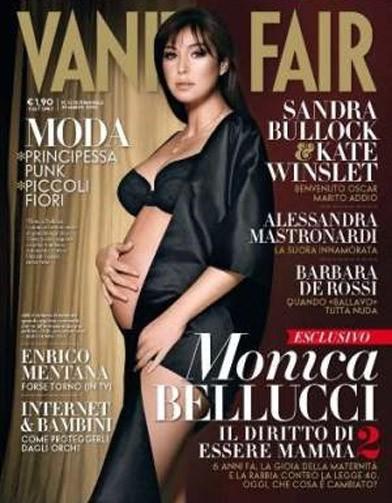 Monica Bellucci enceinte, elle pose nue