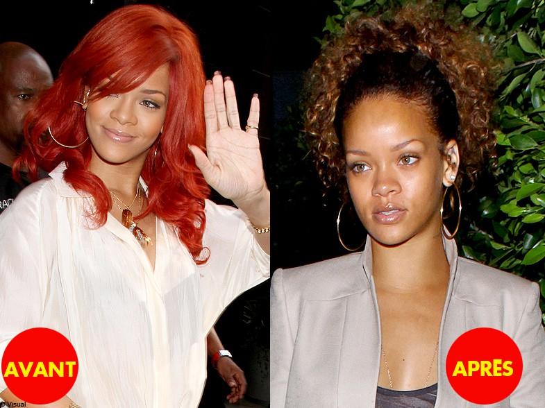 People cheveux coiffure tendance changement tete avant apres rihanna quand les stars changent - Rihanna avant apres ...