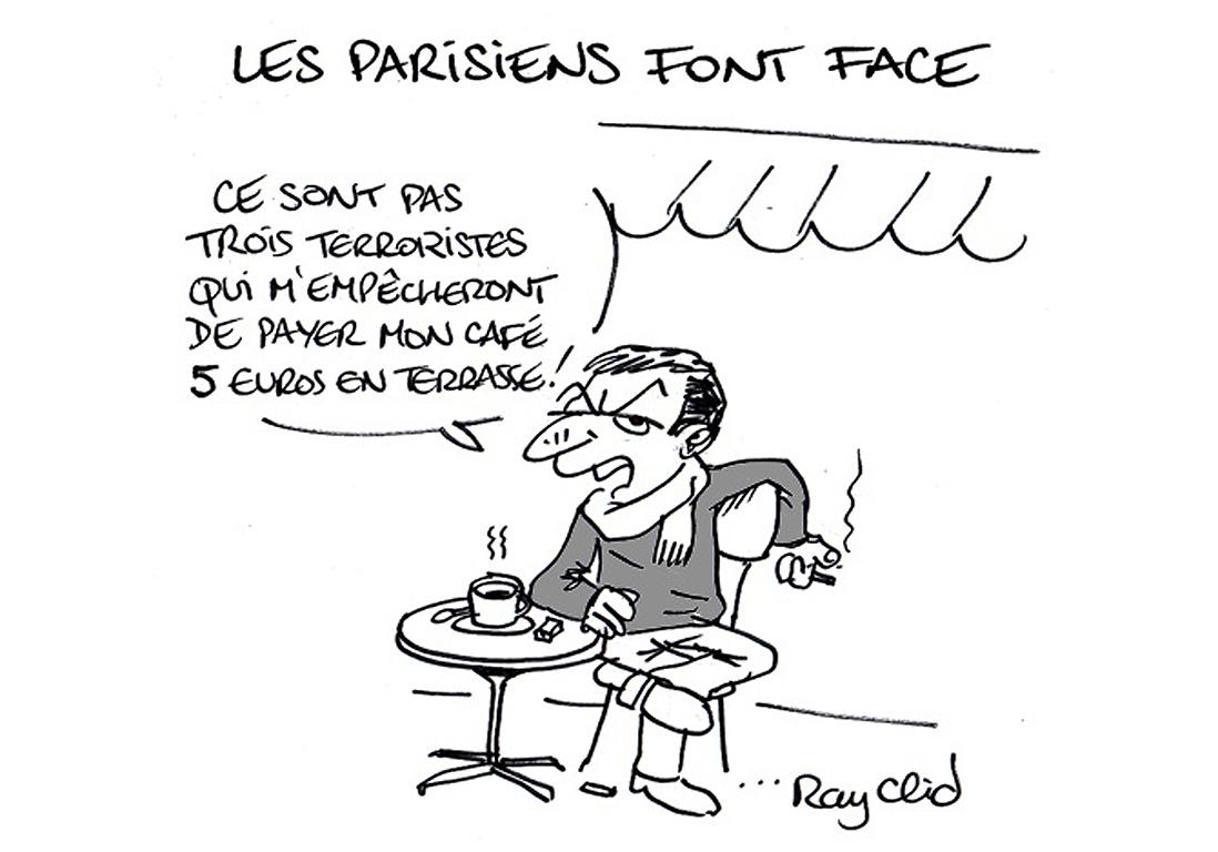 Je Suis En Terrasse attentats à paris : la réponse des caricaturistes à la