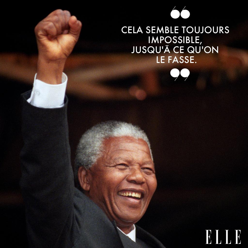 20 Citations Positives Et Inspirantes De Nelson Mandela Elle