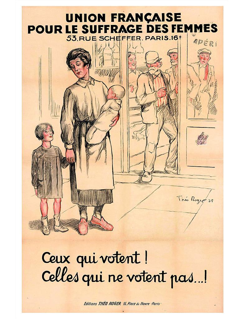 Le combat pour le droit de vote des femmes - 10 affiches