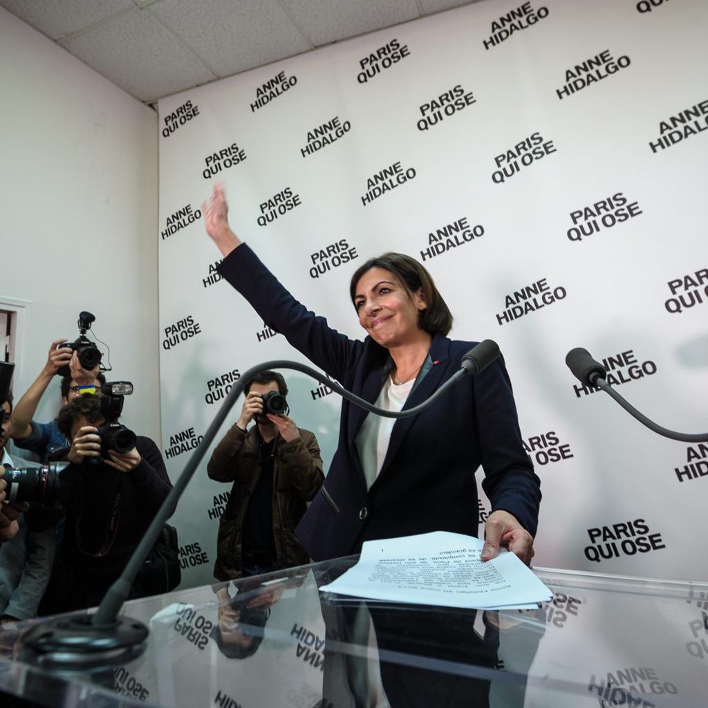Au QG d'Anne Hidalgo, les militants savourent leur victoire