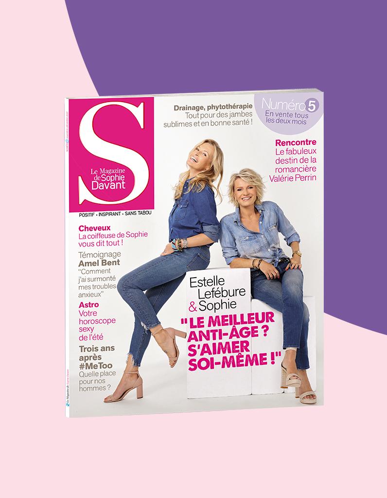Estelle Lefébure dans S, le magazine de Sophie Davant : « On m'a toujours choisie parce que je représentais la fille de l'été » - Elle