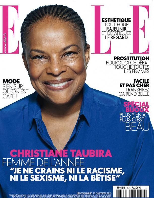 Exclusif : Christiane Taubira en couverture de ELLE